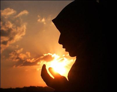 Veiled Woman Praying